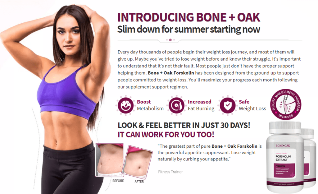 Bone + Oak Forskolin
